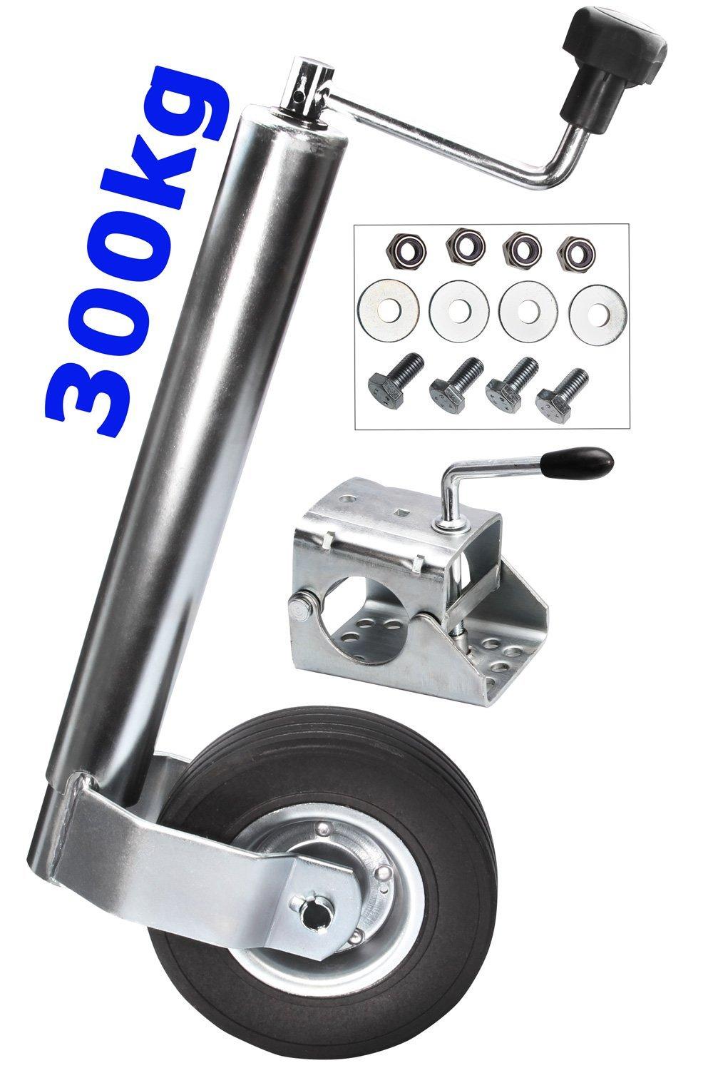set de vis Roue jockey diam/ètre 60 mm pour remorque Fixation de roue