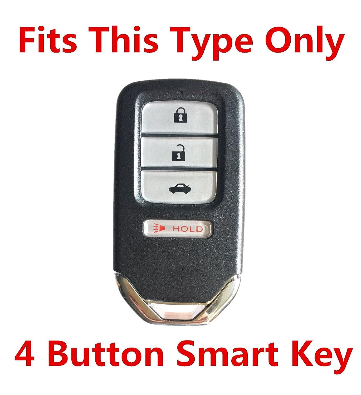Rpkey Silicone Keyless Entry Remote Control Key Fob Cover Case protector For 2013 2014 2015 Honda Accord 2014 2015 Honda Civic 2015 2016 Honda CR-V ACJ932HK1210A 72147-T2A-A11 ASD