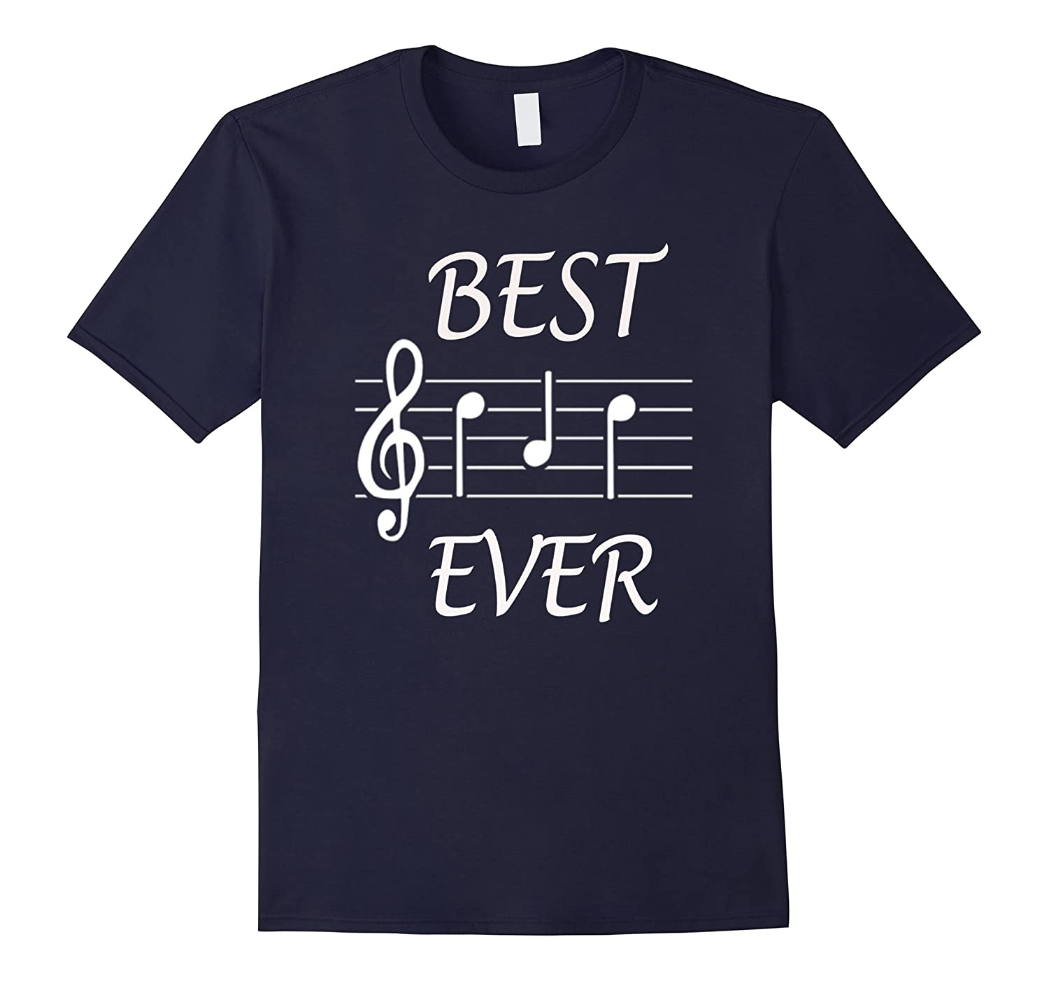 Best Dad Ever Music T-Shirt  Gift for Fathers Day-PL