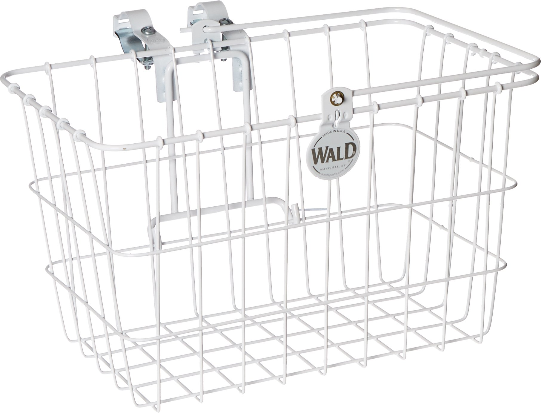 Wald Standard Lift Off Basket for Multi Speed Bicycles, 14.5'' x 9.5'' x 9'', # 3133 White