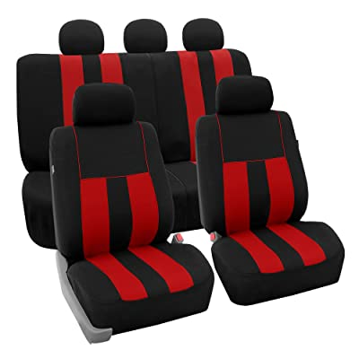 FH Group FB036RED115 Seat Cover (Airbag Compatible and Split Bench Red): Automotive