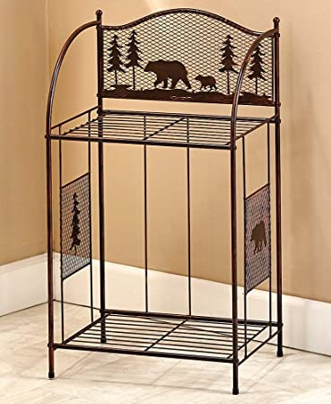 The Lakeside Collection Bronze Metal Woodland Towel Stacker