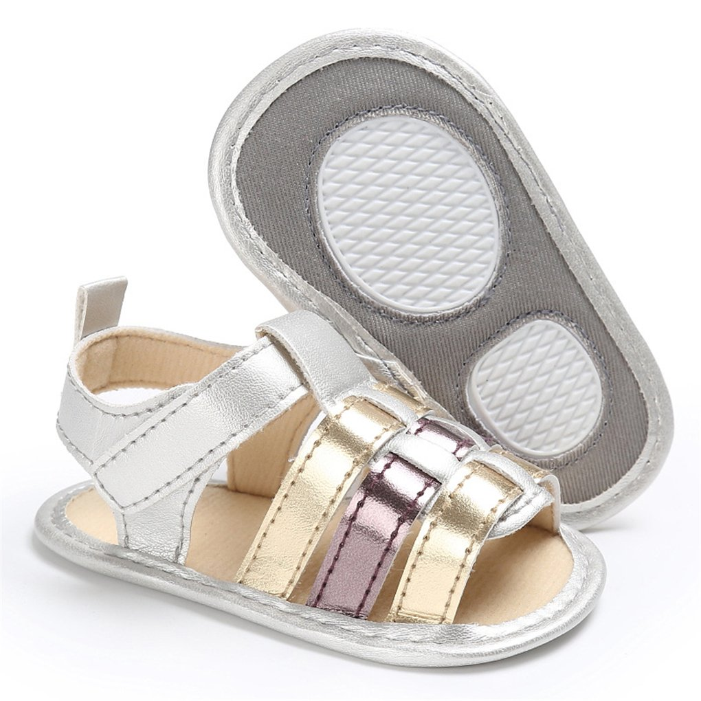 lakiolins Baby Girls Flowers Strappy Braided Gladiator Sandals Open Toe Beach Flat Shoes