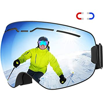 5fe05bdbe2ea TOPELEK Upgrade Magnetic Ski Googles