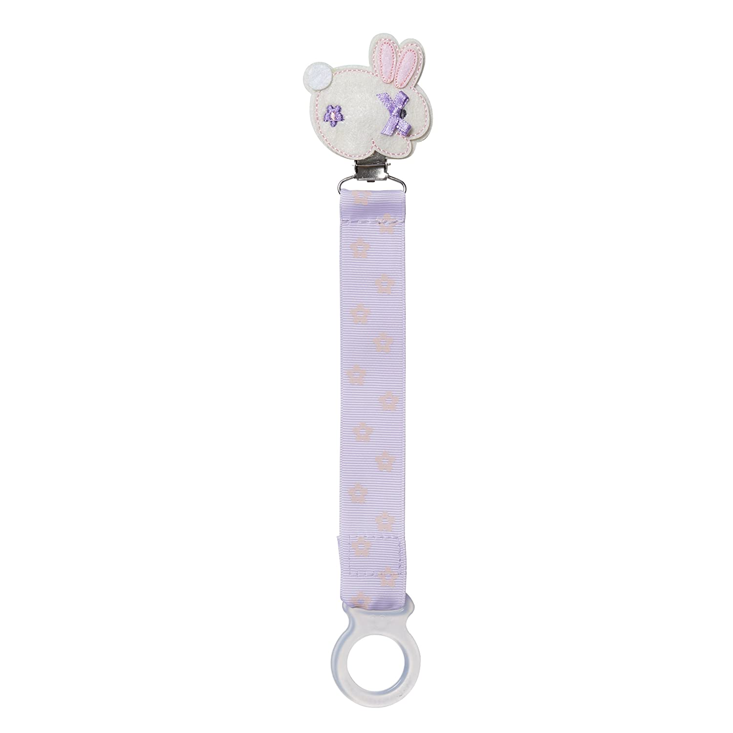 8.5 L x 1 W 2pc Gibson Pink Owl and Brown Pacifier Clip For Babies C.R
