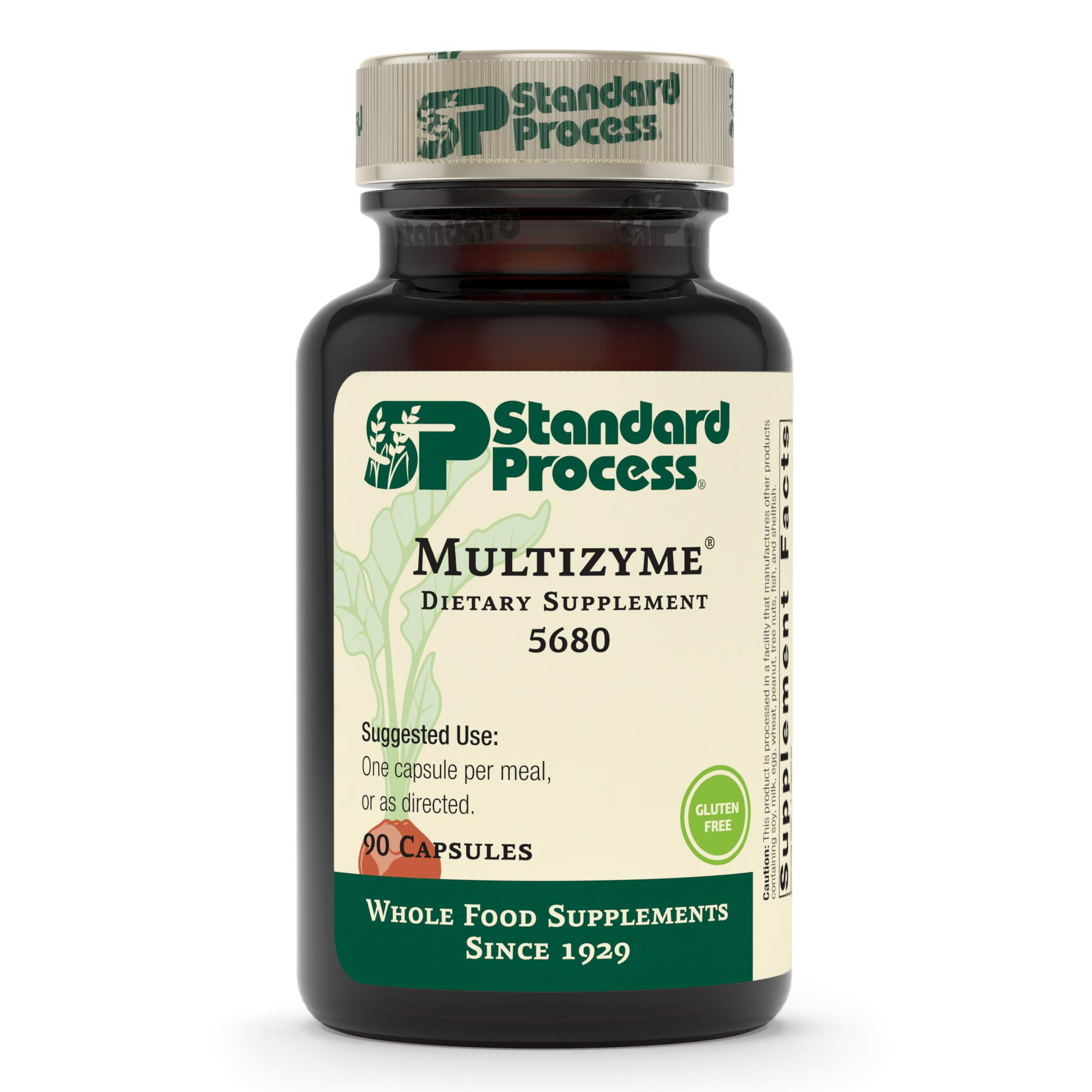 Standard Process - Multizyme - Digestion and Pancreatic Function Support Supplement, Provides Digestive Enzymes and Pancreatic Enzymes, Gluten Free - 90 Capsules by Standard Process (Image #2)