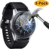 KIMILAR Samsung Galaxy Watch 46mm Screen Protector, [3 Pack] 9H Hardness Anti-scratch Anti-bubbles Tempered Glass Screen Protector Film for Samsung Galaxy Watch 46mm