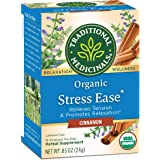 Traditional Medicinals Organic Stress Ease Cinnamon Relaxation Tea (Pack of 6), Relieves Stress, Tension and Irritability, 96