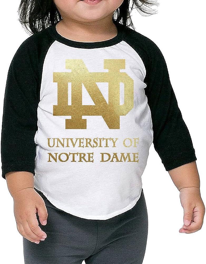 Amone Notre ND Logo Dame Boy Girl Notre ND Logo Dame Baseball Raglan Shirt Black