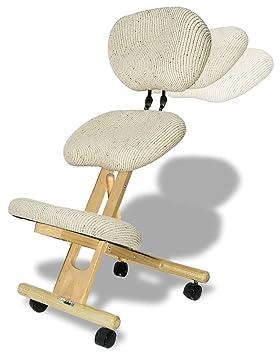 Cinius Silla ergonómica profesional color crema con respaldo: Amazon.es: Hogar