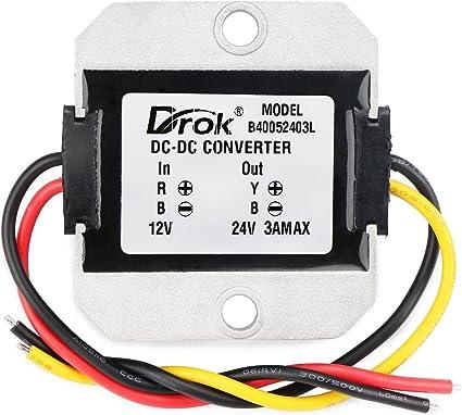 Convertitore DC-DC convertitori di potenza DC-DC 12V a 24V 3A 72W Voltage Step Up Module per aumentare il convertitore di alimentazione