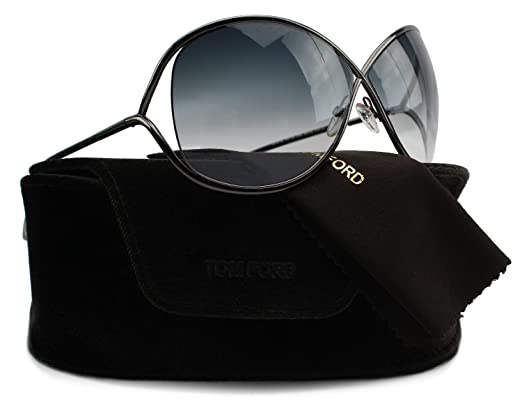 7dfb18c229d0f TOM FORD FT0130 Miranda Sunglasses Shiny Gunmetal Gradient Smoke (08B)  TF130 08B 68mm Authentic  Amazon.co.uk  Clothing