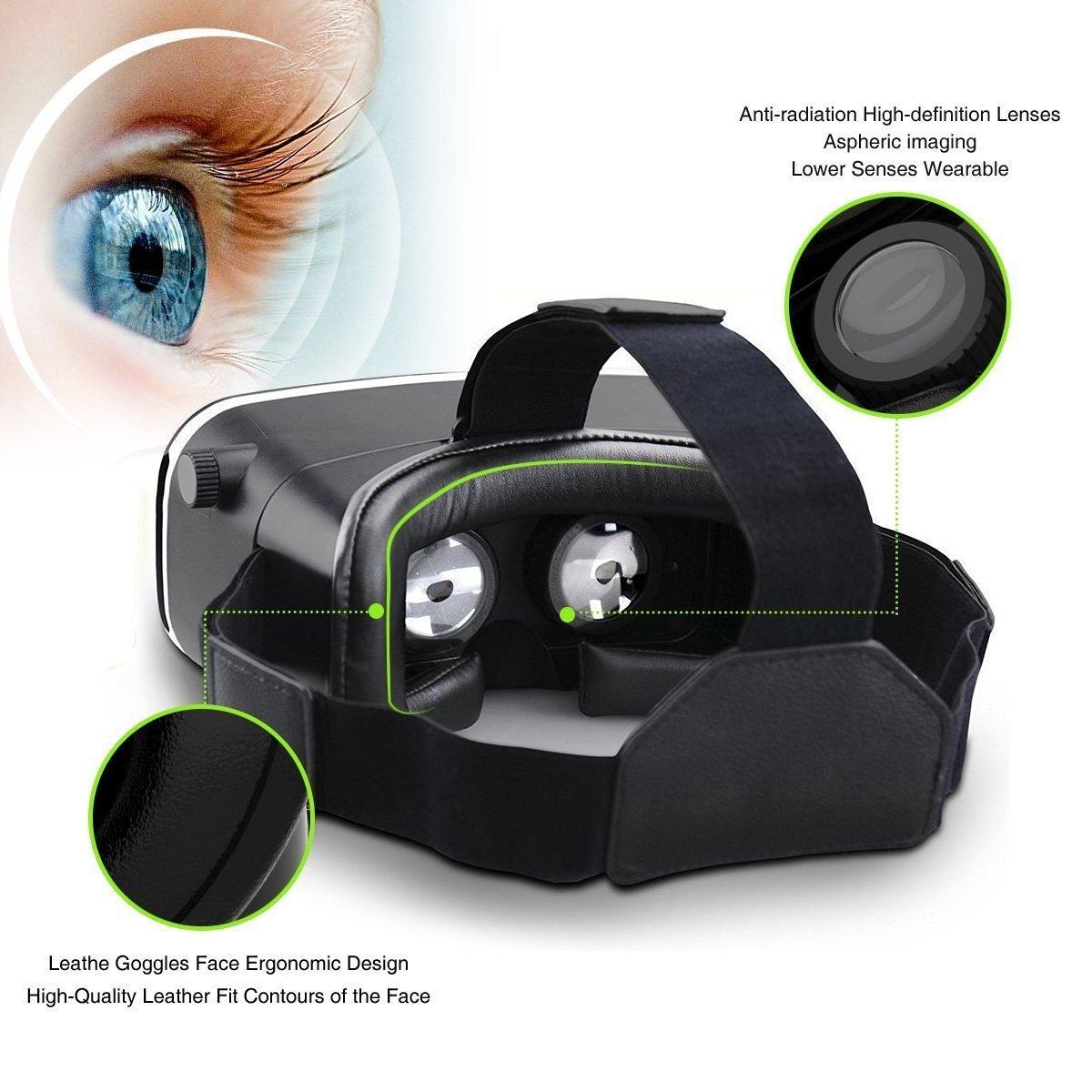 3D VR Gafas,3D VR Casco Realidad Virtual Ajustable 3D y Juegos de V/ídeo Compatible con iPhone 7//6S//6 Plus//6//5S//5 C//5,Samsung Galaxy S5//S6//Note4//Note5,Otros 3.5-6.0 Pulgada Tel/éfonos Inteligentes V01