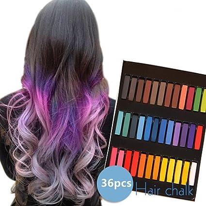 ADIASEN 36 piezas (36 colores) temporal pelo color set ...