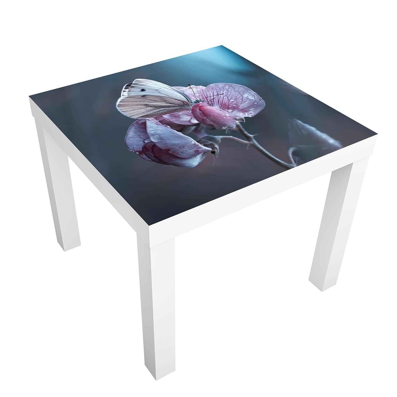 Bilderwelten Tavolino Design - Butterfly in The Rain - 55x55x45cm, Tabella dei Colori: Tavolo Nero, Dimensione: 55 x 55 x 45cm PPS. Imaging GmbH