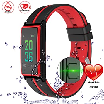 onston Bluetooth reloj inteligente banda pulsómetro Color pantalla táctil pulsera pulsera Fitness Tracker podómetro Pulseria inteligente