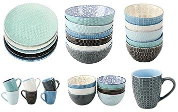 Geschirrserie Infinity Kombiservice Keramik Porzellan Serviere