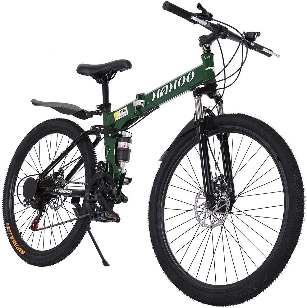 Adult-only Green Road Bicycle Racing 21-Speed 26-inch Bicycles High Carbon Steel Frame Wheeled Road Bicycle Double Disc Brake Bicycles MINGLIFE Mens and Womens Road Bicycles