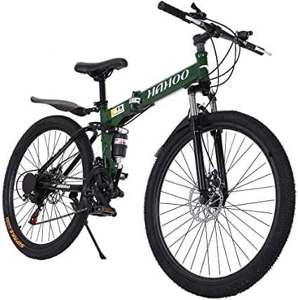 "Folding Bike Mountain Bike 26/"" 21 Speed Full Suspension Bicycle MTB Bikes USA"