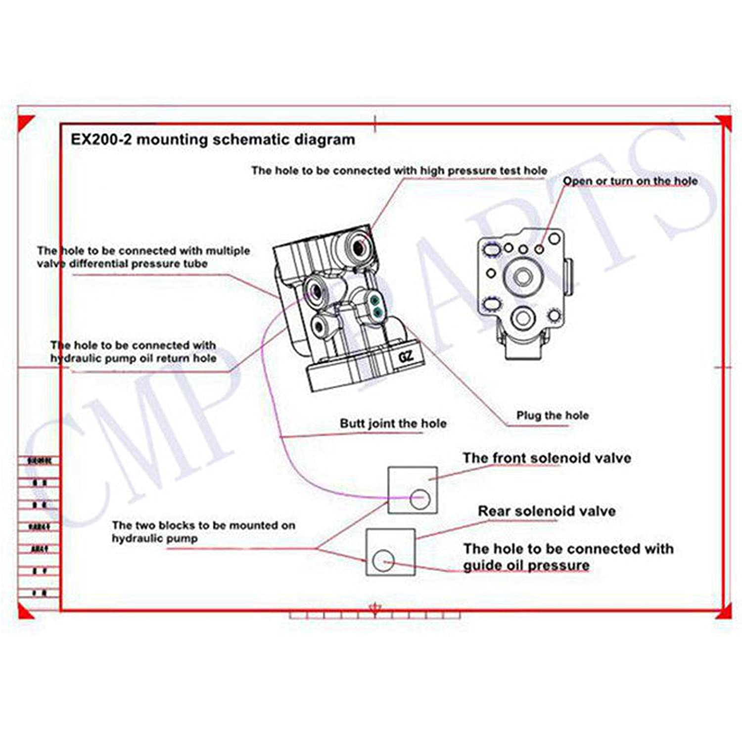 Hitachi Excavator Hydraulic Circuit Diagram Trusted Wiring Diagrams John Deere 120 Amazon Com Ex200 2 3 Conversion Kit Sinocmp Rh Trackhoe Track Adjustment