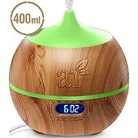 ArtNaturals Essential Oil Diffuser and Humidifier with Bluetooth Speaker Clock (13.5 Fl Oz / 400ml Tank)