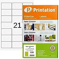 Étiquettes d'adresse universelles pour enveloppes C6 Blanc 63,5 x 38,1 mm 2100 étiquettes à adresse sur 100 feuilles DIN…