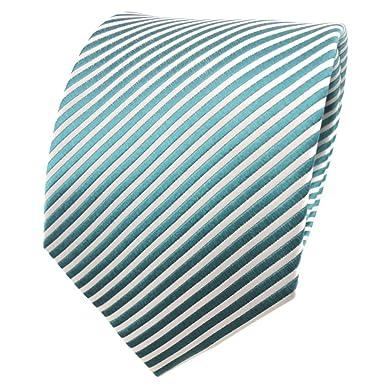 TigerTie diseñador corbata de seda - turquesa agua azul plata ...