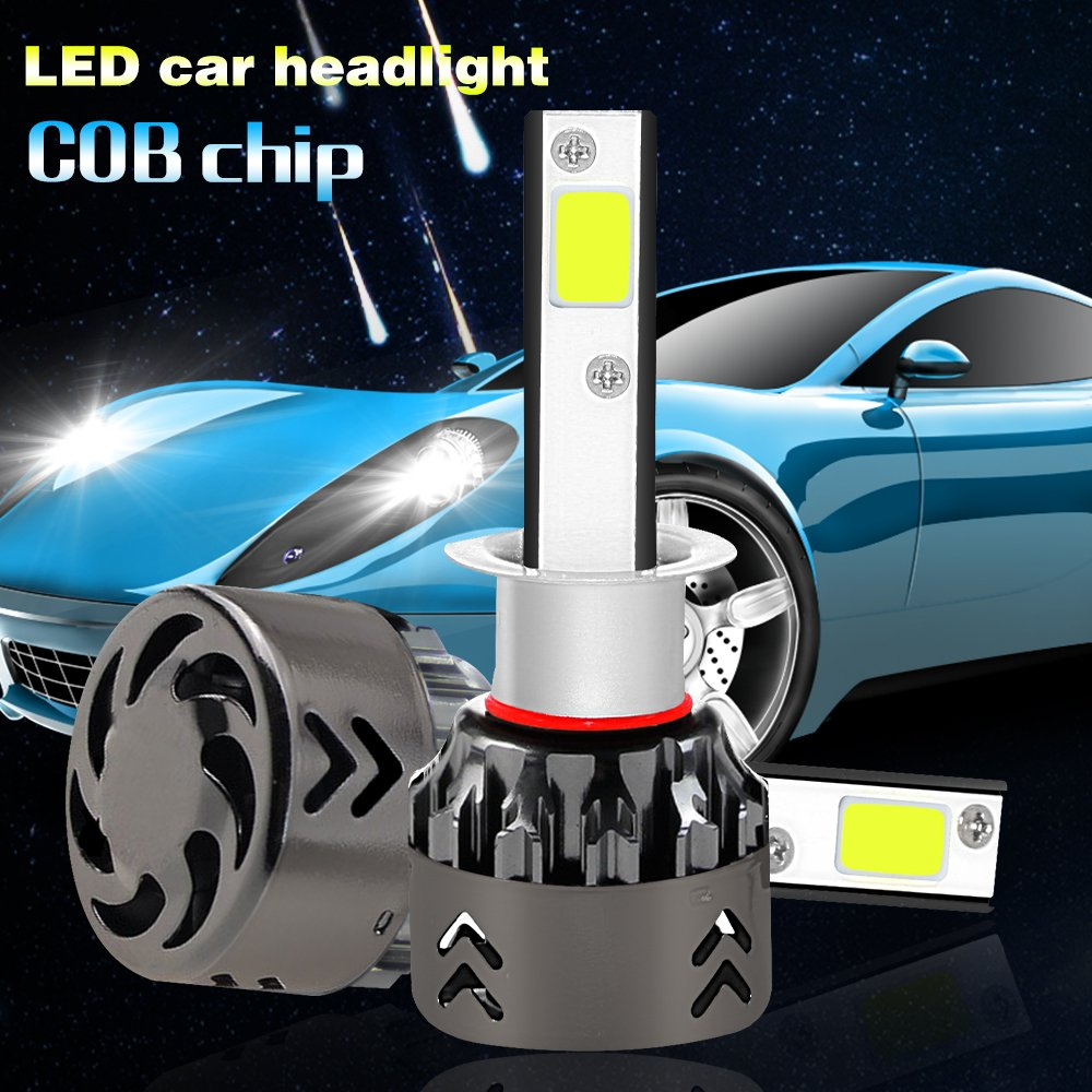 LED Headlight Bulbs All-in-One Conversion Kit - H11 (H4, H7,9005) -6000Lm 6000K - 2 Year Warranty…