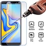Jkobi Exclusive Explosion Proof Quality Tempered Glass For Samsung Galaxy J6 Plus Scratch Protector Screen Guard -Transparent