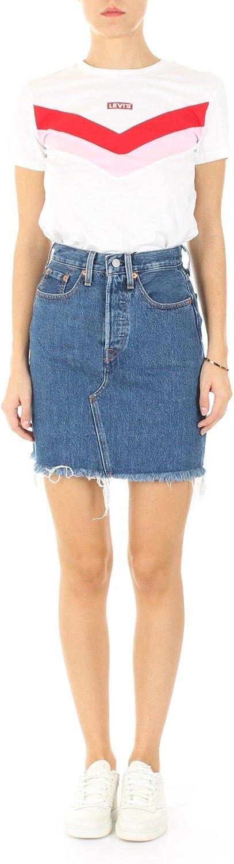 Levis Luxury Fashion 778820009 - Falda de algodón para mujer, color azul azul 32: Amazon.es: Ropa y accesorios