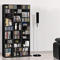 Artiss CD/DVD Rack Blu-ray Media Storage Bookcase Display Shelf Black