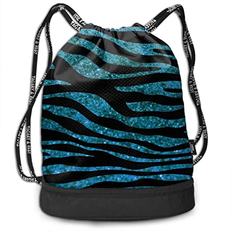 74d55af56f00 Amazon.com: Zol1Q Blue Leopard Print Drawstring Bag for Men & Women ...