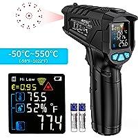 Termómetro Infrarrojo Pistola de Temperatura Humedad MESTEK Sin contacto Digital Láser Pantalla LCD a Color -50 ℃ ~ 550…