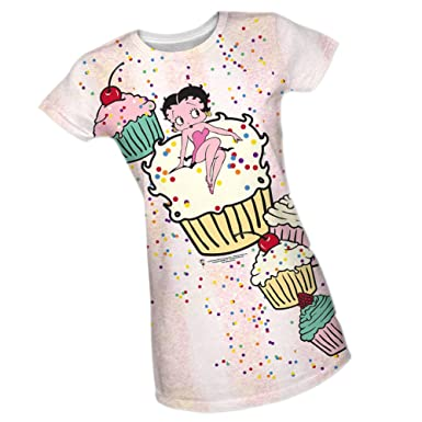 d30cfa97 Cup Cake -- Betty Boop Juniors All-Over Front Print Sports Fabric T-