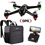 Contixo F18 Quadcopter Drone | Brushless Motors 1080p HD Live Video Built-In Camera Hobbyist Photographers GPS Flying RC Drone FPV WiFi RTH +Free Carrying Backpack (50 Value)