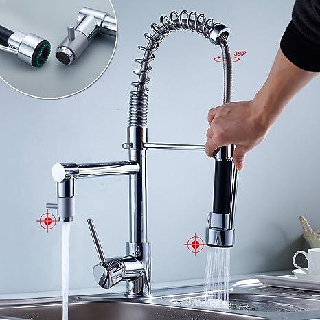 Auralum Moderno 360°Rubinetto lavabo alto cromato lavandino ...