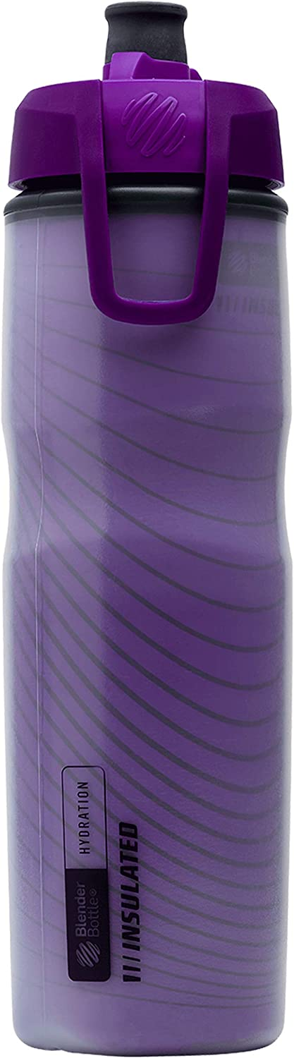 BlenderBottle Hydration Halex Insulated Squeeze Water Bottle with Straw, 24-Ounce, UltraViolet