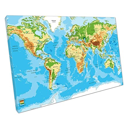 Print on canvas detailed world map cities countries vector size76 x print on canvas detailed world map cities countries vector size76 x 51 x depth gumiabroncs Choice Image