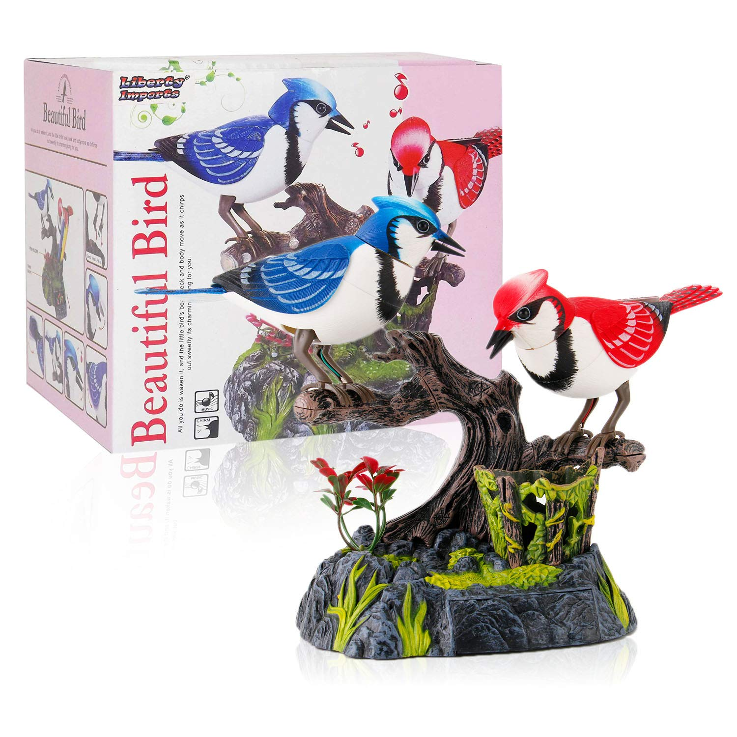 Liberty Imports Singing and Chirping Birds - Realistic Sounds and Movements (Blue Jays) by Liberty Imports (Image #2)