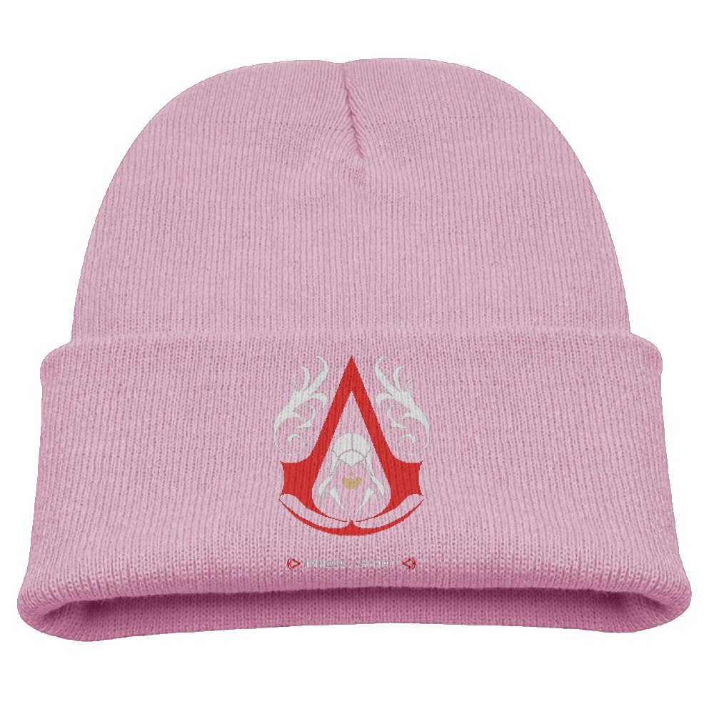 Harrietoop Knit Caps Beanie Hats Assassins Creed Pixel Video Game Fashion Child