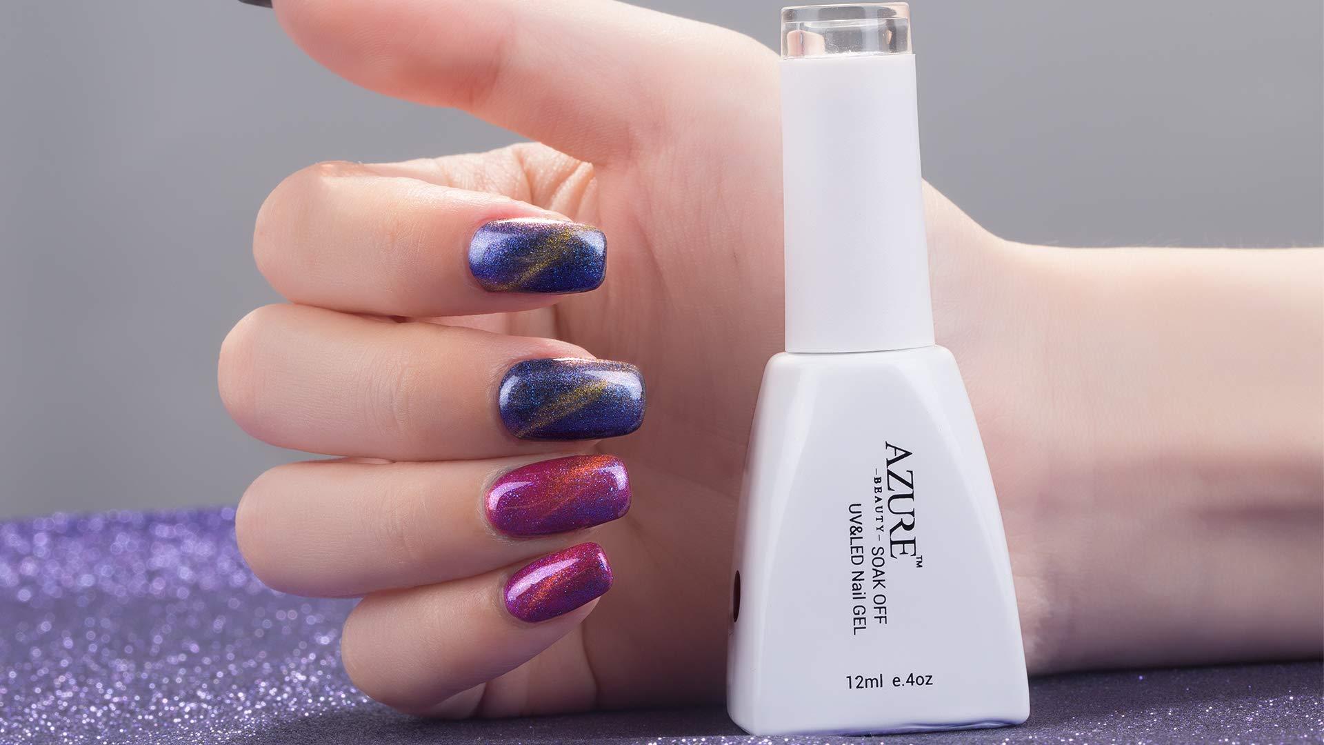 Cat Eyes Gel Magnetic Chameleon Gel Nail Polish Soak Off UV LED Nail Polish 6 Colors Set 12ML by AZUREBEAUTY by AZUREBEAUTY (Image #3)