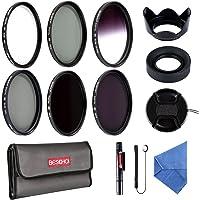 58mm Filter Set Beschoi 6Pcs Foto Filter UV + CPL + Verlaufsfilter grau + ND2 + ND4 + ND8 Graufilter set + Kamera Zubehör