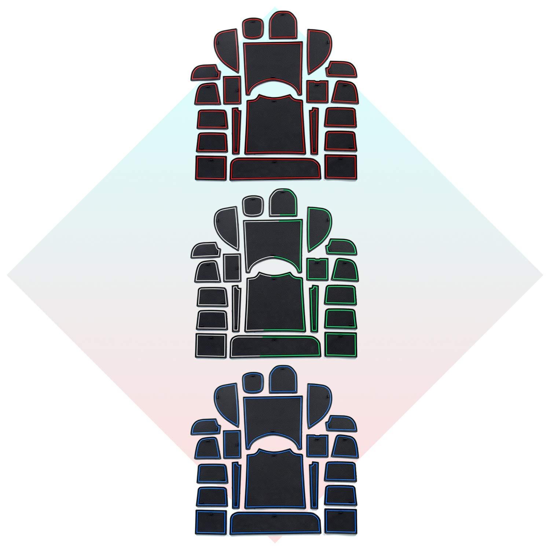 HRV 2016 2017 2018 2019 Tapis Coupe Porte Int/érieure Tasse Bo/îte de Bras Tapis de Stockage CDEFG pour Honda HR-V Accessoires Auto Tapis Anti-poussi/ère Antid/érapante Rouge