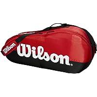 Wilson Team - Bolsa de Tenis con 1 Compartimento, Color Negro y Rojo