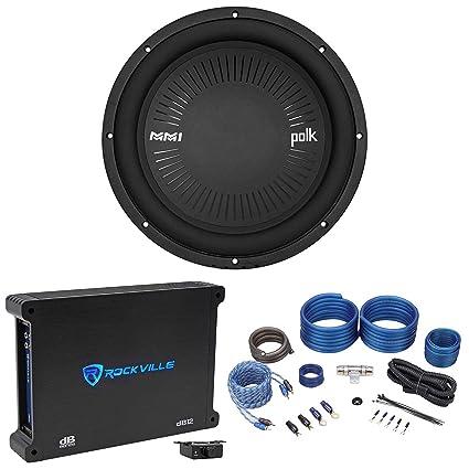 "Polk Audio MM 1242 DVC 12"" 1260w Car Audio Subwoofer Sub+Mono Amplifier+"