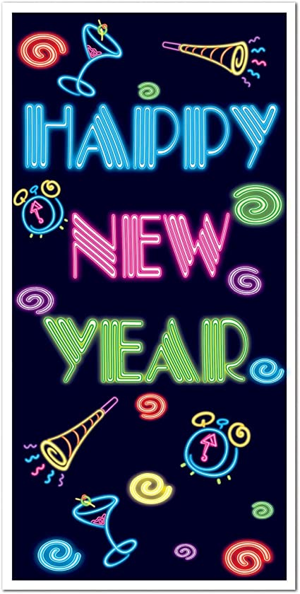 Happy New Year Noise Maker Horns x 3