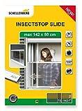 Schellenberg Insectstop Slide - Protección antiinsectos corredera para ventanas con persianas (máximo 142 x 50 cm)