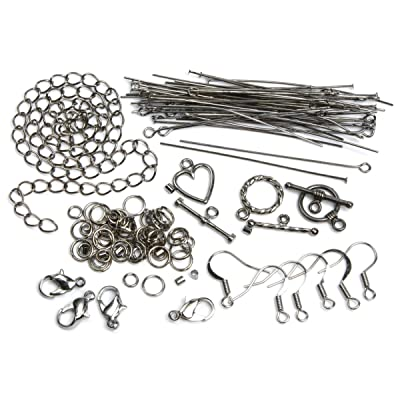 Cousin Bijoux Basics Starter Pack, Gunmetal, 145-piece