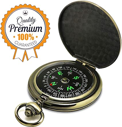 2x Mini Pocket Compass Outdoor Camping  Hiking USA Seller FREE SHIPPING