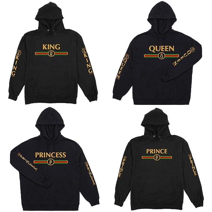 f5e1460e2f9 Amazon.com  Adults Youth Boys Girls Gucci King Queen Prince Princess Gang  Love Golden T-Shirt S-5XL  Clothing